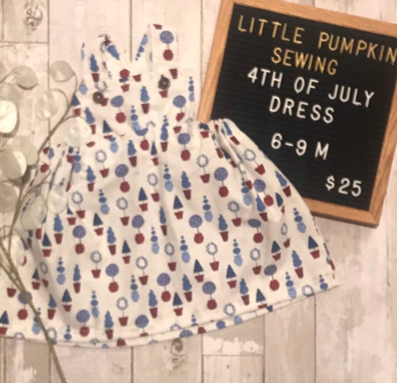 Topiary Pinafore 6-9 months