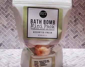 9 pack mini bath bombs with coconut milk
