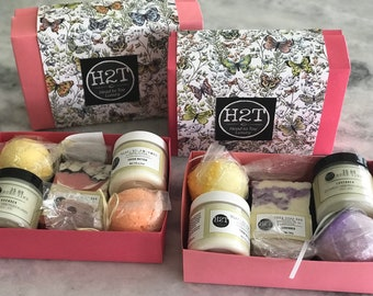 Self Care Gift Set | Luxury with candle, cream, bath bomb and soap