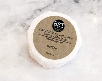 Exfoliating Soap Bar | Mint Pumice and Coffee exfoliating soap bar - Great for Heals and rough spots.