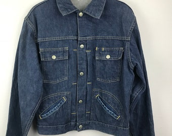 aec7fcbd3 Jc Penny Foremost Vintage Selvedge Denim Trucker Jacket