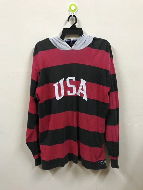 polo sport usa spellout embroidery logo hoodie shi