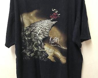 Korn Follow The Leader Alternative Metal Band shirt Large Size