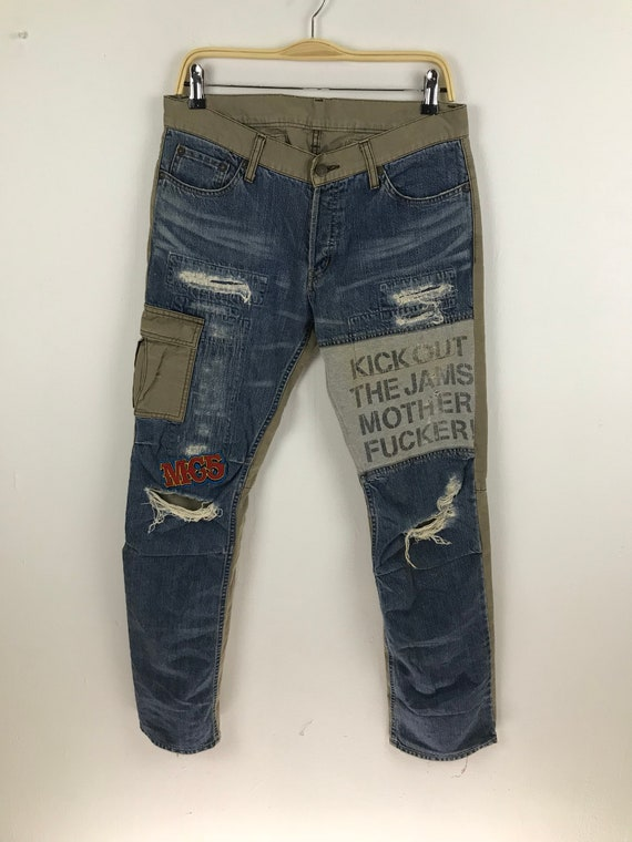 Rare Hysteric glamour X Mc5 Jeans Patch