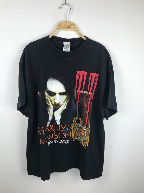 marilyn manson//slayer tour shirt large size