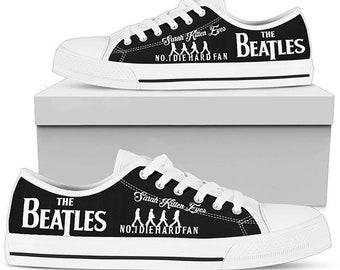 e57eae7083cc The Beatles Low Top Converse Custom Shoes