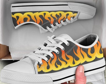 b0d1e4f9 Flame Fire Print Converse, Flame Shoes, Flame Lover Gift, Flame Lover Shoes,  Flame Lover Converse, Gift For Flame Lover