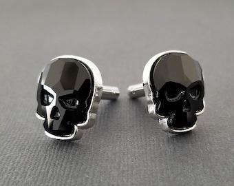 Skull--1 Pair Q8C9 Stainless Steel Men Cuff Link Cufflinks