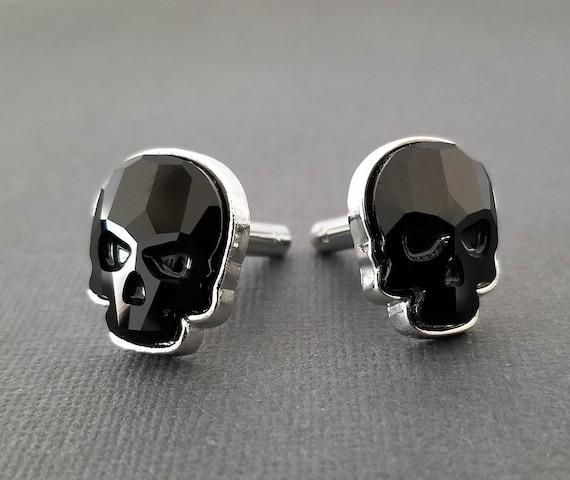 Unisex aretes cristales swarovski calavera elegante diseño Skull pendientes