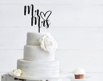 Mr and Mrs Wedding Cake Topper - Wedding Cake Decorations
