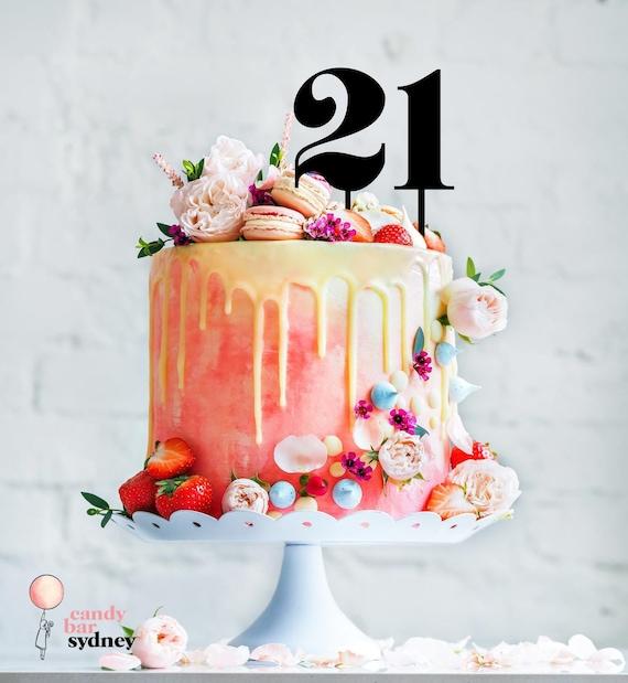 Strange Single Number Cake Topper Birthday Cake Toppers 21 Cake Etsy Funny Birthday Cards Online Inifofree Goldxyz