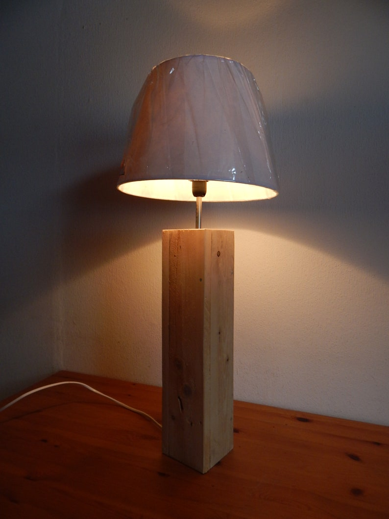 Table Lamp Made Of Pallet Wood Etsy