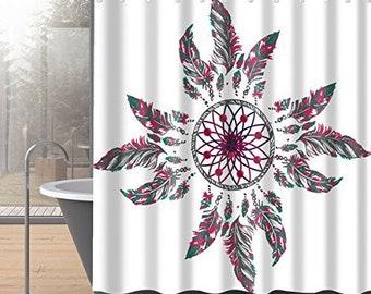 Colorful Boho Shower Curtain