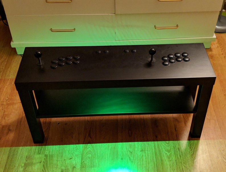 Arcade Coffee Table.Retro Arcade Coffee Table With Under Table Lighting