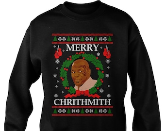 fad8d6b6eec3 Merry Chrithmith Funny Ugly Christmas Jumper Sweatshirt Sweater