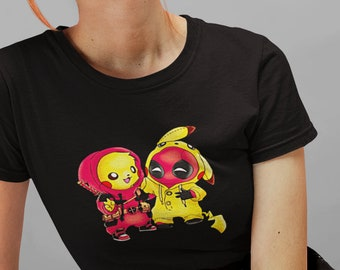 c868cca0 Ladies Fit Pokemon Deadpool Game Movie Inspired Funny Shirt