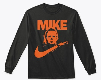 1371747479987e Mike Halloween Scary Horror Michael Myers Long Sleeve T shirt
