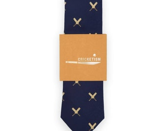 Cricket Silk Tie |Gift Idea for Cricket Player and Entire Team