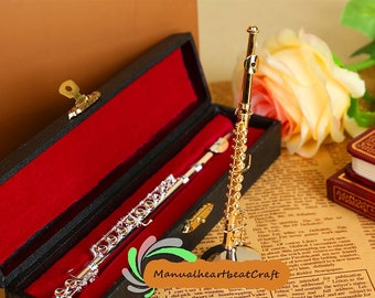 7bb9f36a0d1acd Miniature flute Musical instrument model Gift for her Dollhouse miniatures  Miniature project Decorative ornaments Photography props