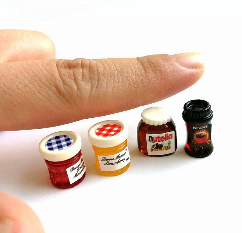 Jam and Spread Kit Dollhouse Miniature Coffee