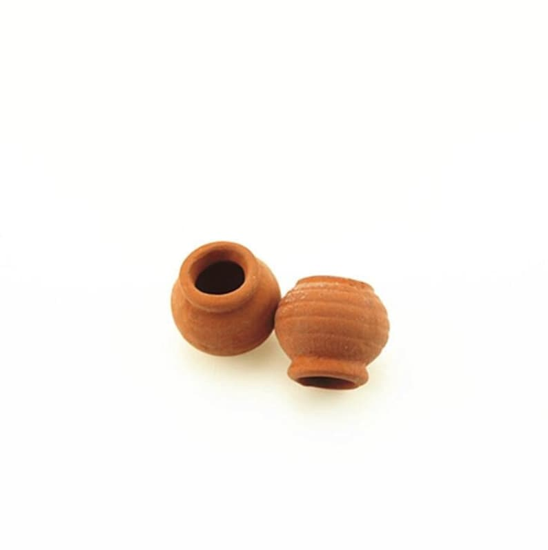 Dollhouse Miniature Large Plastic Jar with Wood Cover