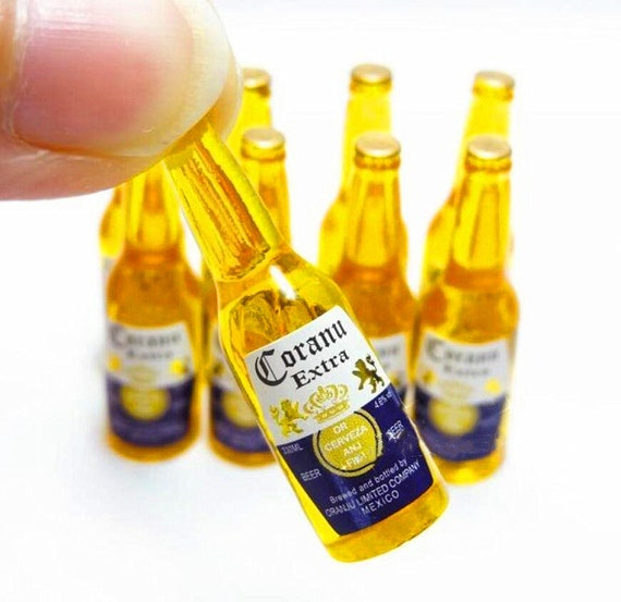Corona Mexican Beer Bottle 1:12 Dollhouse Miniatures Alcohol Party Bar