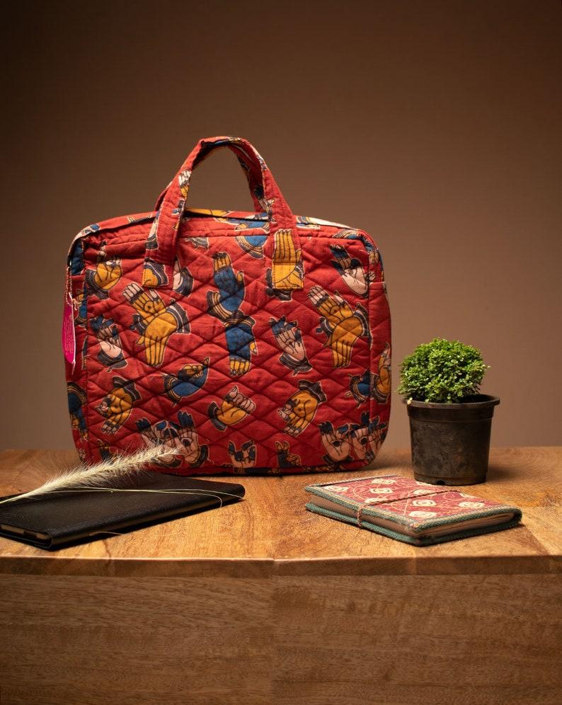 Handmade Hand Block Cotton Laptop Bag 14 inch Laptop Bag Laptop Bag Laptop Bag for Men Laptop Bag for Women