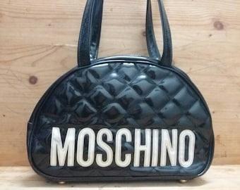 adbcd20af886a Vtg MOSCHINO big spell bowling bag style