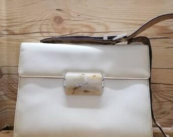 0986c3aa62a8dc Vtg PRADA MILANO 80s shoulder square handbag