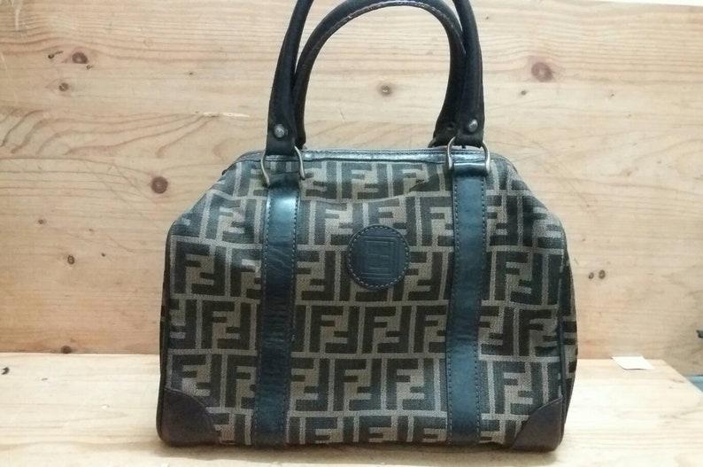 67326ff3b573 Vintage FENDI ZUCCA monogram speedy bag style