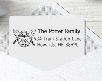 Owl Mail Return Address Stamp Self Ink Custom Personalized Family Wedding 6