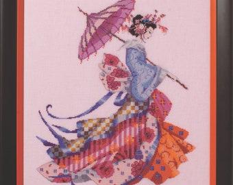 Worldwide Free Shipping Mirabilia Nora Corbett Cross Stitch Chart MD153 Miss Cherry Blossom