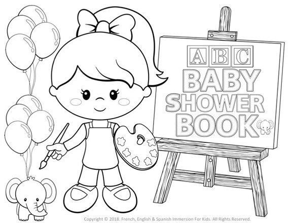 Baby Shower Coloring Book Printable Games