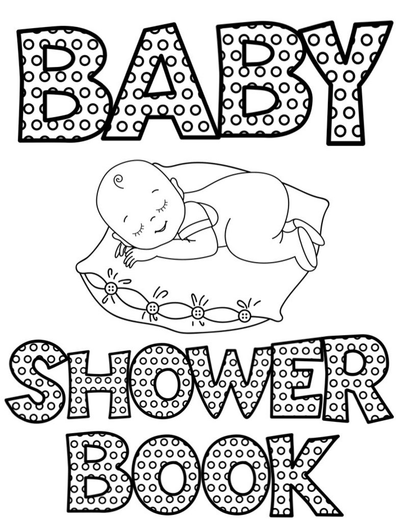 Baby Shower Coloring Book Games Printables Coloring Pages