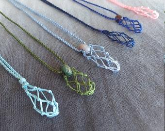 41x33mm Blue Druzy Cab Macrame Pendant 2 Pcs  of 167Cts Gemstone Thread Pendant Handmade Macrame Gemstone Jewelry #SKU1746