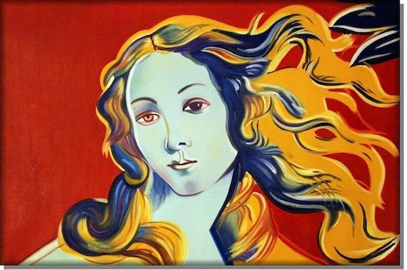 Naissance De Venus Main Peint Peintures A Lhuile Etsy