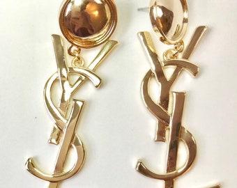 a6c48aff3cd7 YSL Vintage Drop Earrings