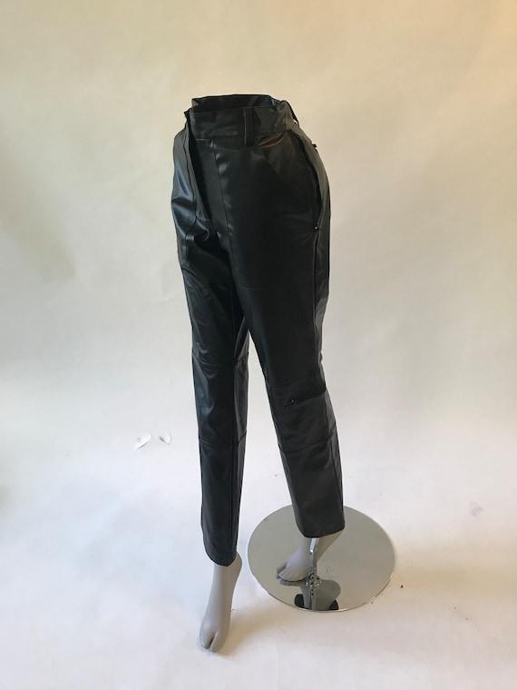 Vintage 1990s black faux leather pants