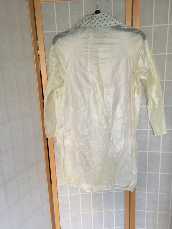 Vintage 1960's Clear White Child's Raincoat with … - image 4