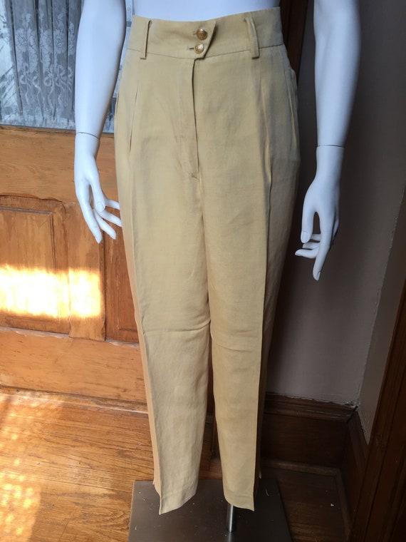 Vintage Yellow High Waisted Pants