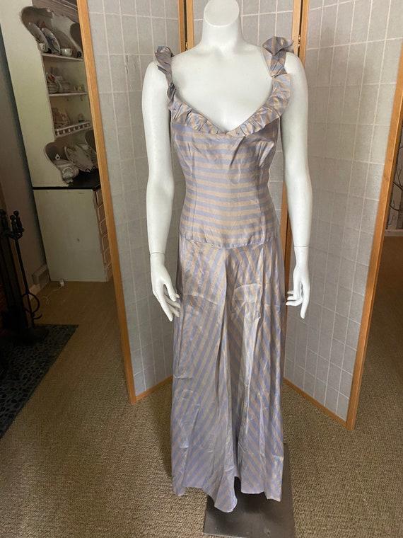 Vintage antique 1930's 1940's lavender striped sil