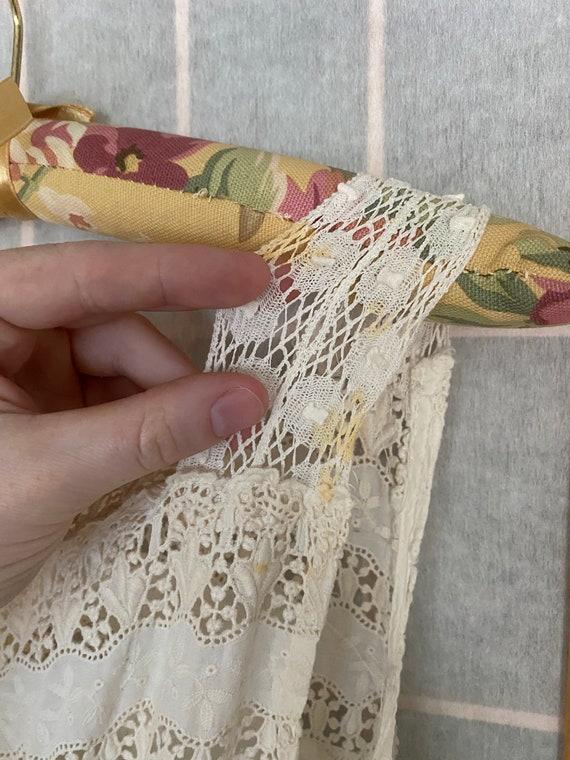 Vintage antique white cotton petticoat dress, 190… - image 8
