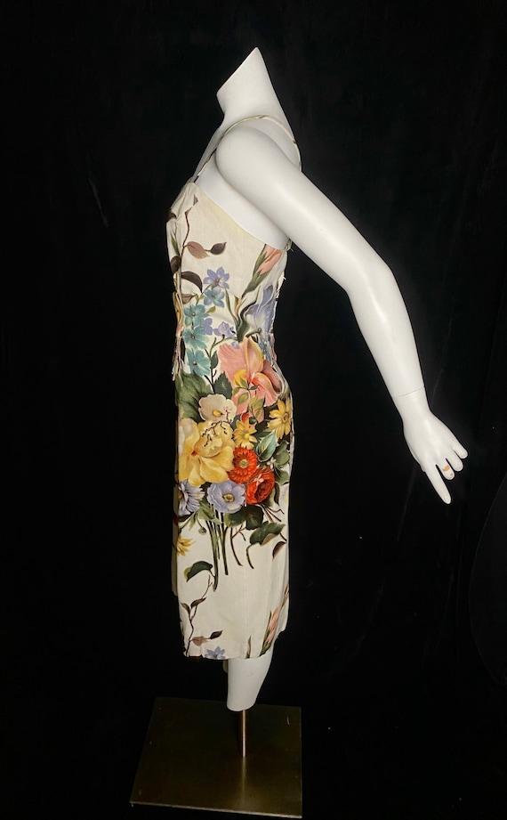 Vintage Ceil Chapman 1950's colorful botanical dr… - image 4