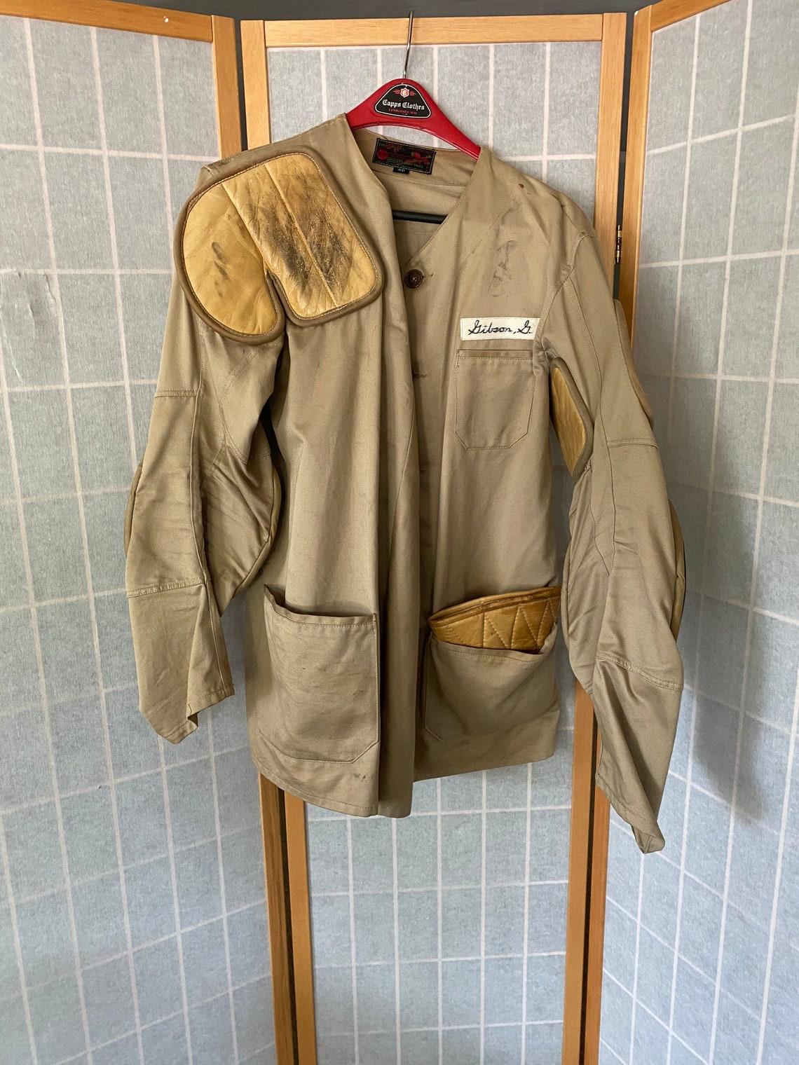 Vintage 1950's Khaki Hunting Rifle Jacket, Size 40