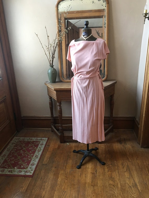 Vintage 1970's/1980's Pink Terry Cloth Dress, Size