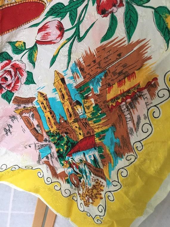 Vintage white and yellow square Mexico souvenir s… - image 4
