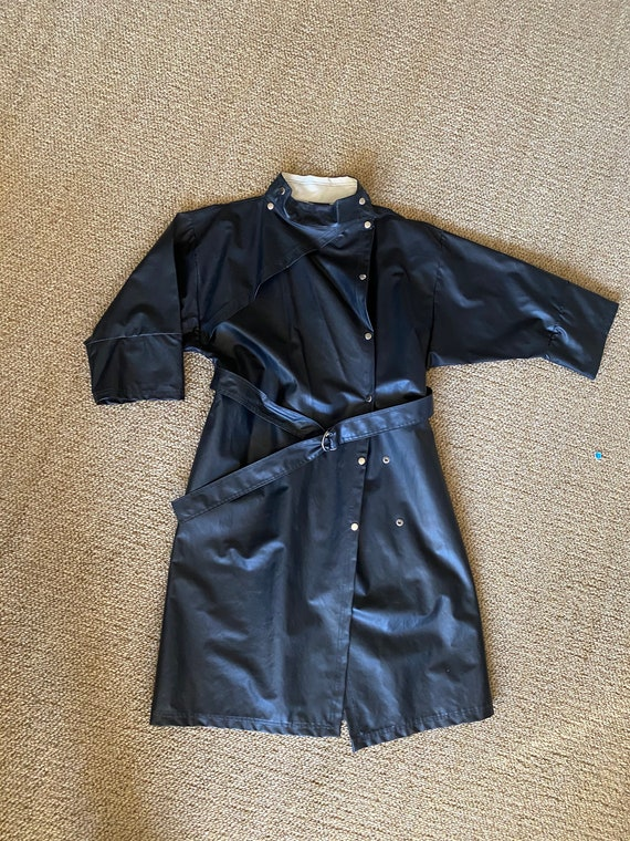 Vintage Black PVC Asymmetrical Saks Fifth Avenue R