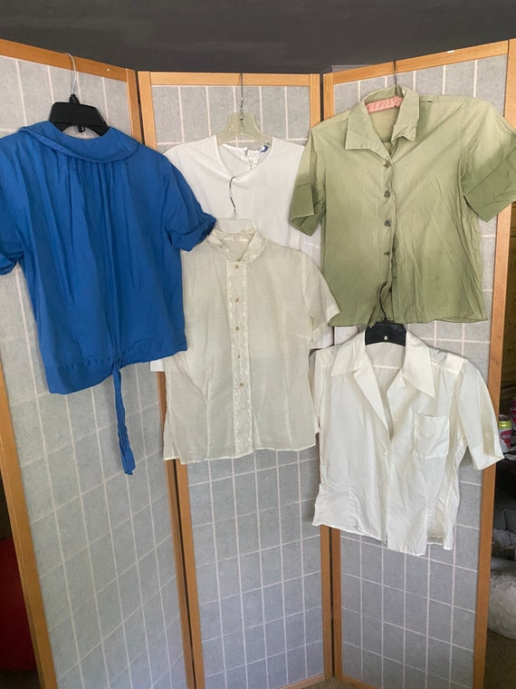 Vintage 1950's lot of women's blouses