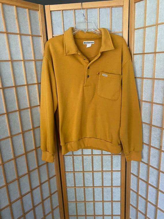 Vintage 1970's mustard yellow pullover sweatshirt