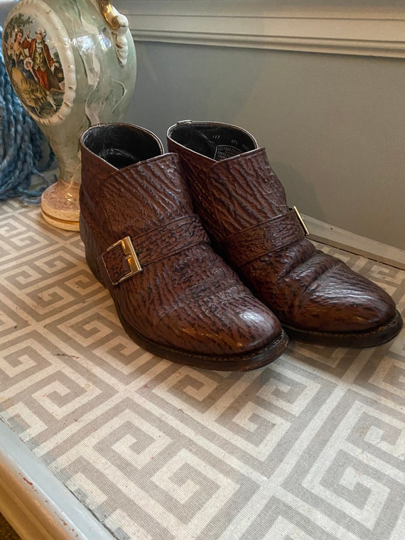 Vintage 1960's 1970's brown leather boots, made in